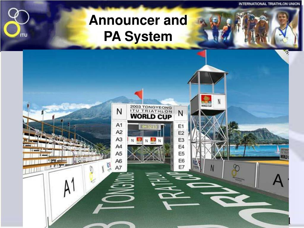 Announcer and PA System