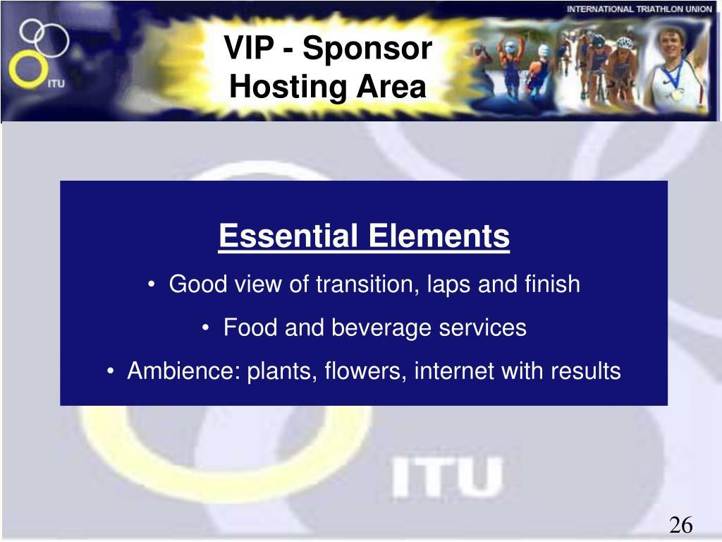 VIP - Sponsor Hosting Area