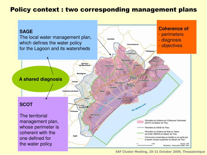 Policy context : two corresponding management plans