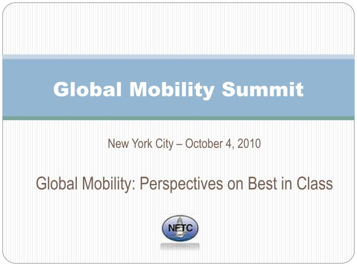Global mobility summit