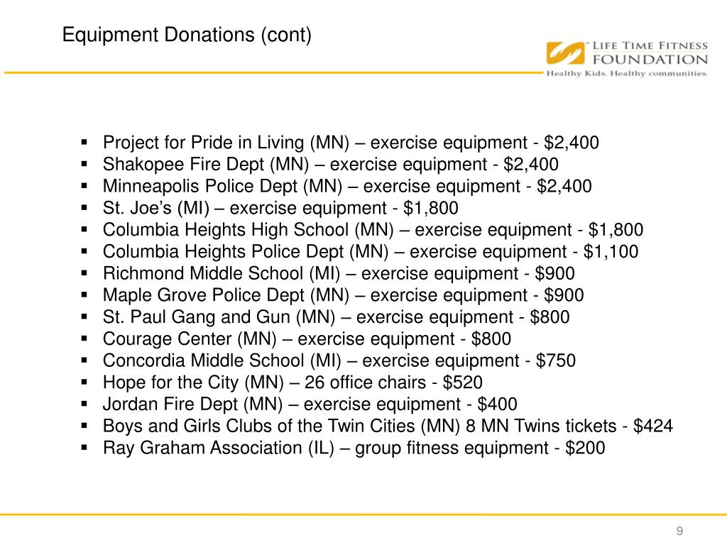 Project for Pride in Living (MN) – exercise equipment - $2,400