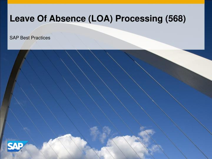 Leave Of Absence (LOA) Processing (568)