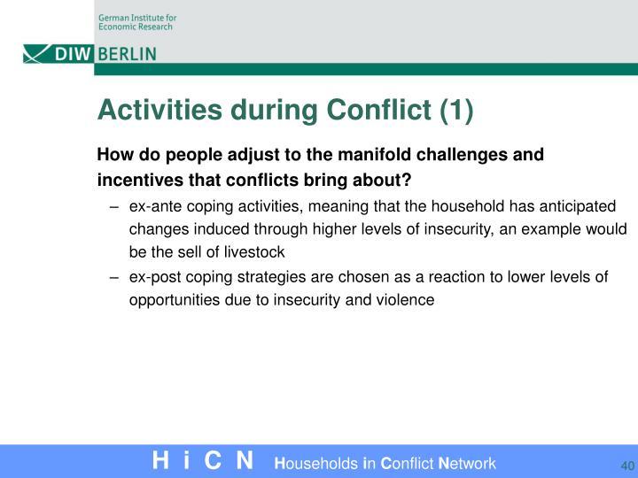 Activities during Conflict (1)