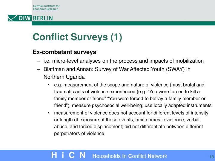Conflict Surveys (1)