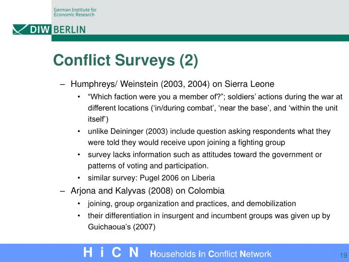 Conflict Surveys (2)