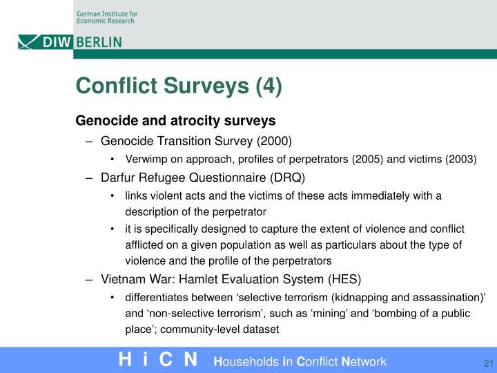 Conflict Surveys (4)