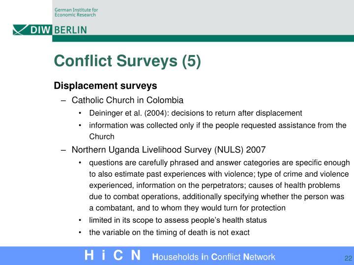 Conflict Surveys (5)
