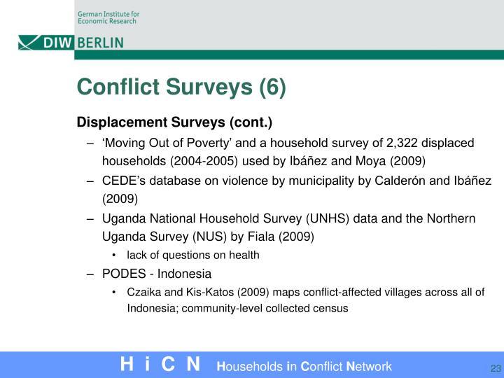 Conflict Surveys (6)