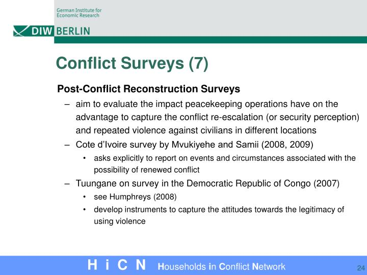 Conflict Surveys (7)