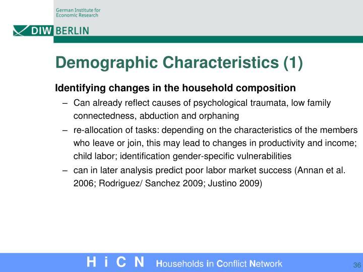 Demographic Characteristics (1)