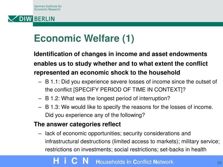 Economic Welfare (1)