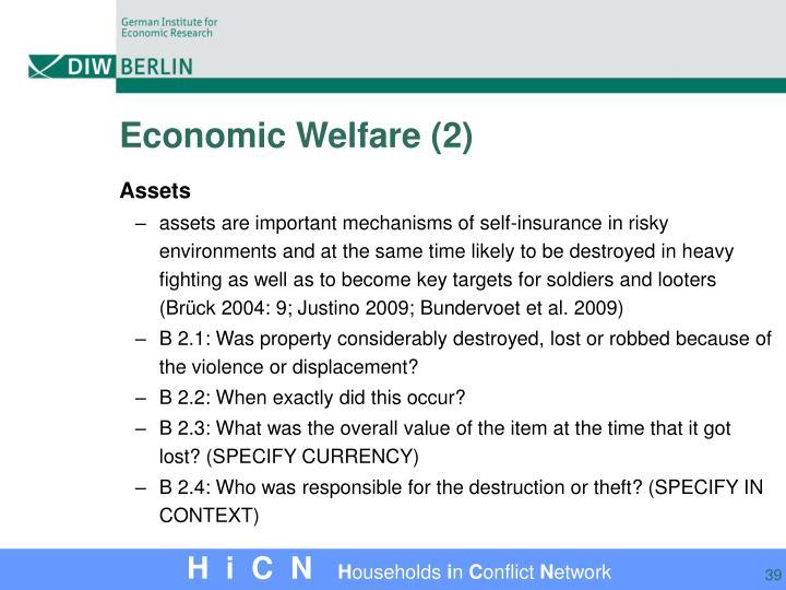 Economic Welfare (2)