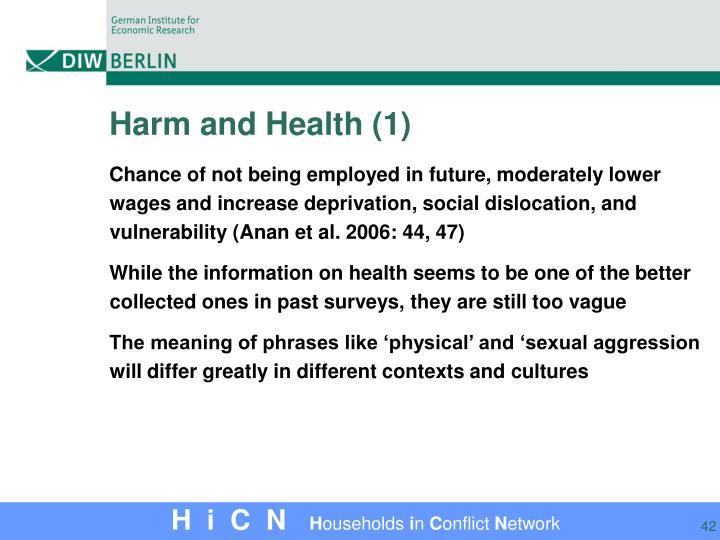 Harm and Health (1)