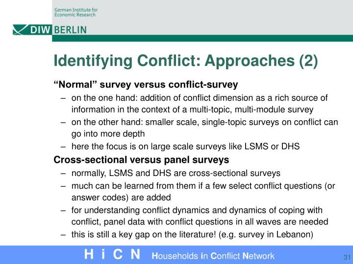 Identifying Conflict: Approaches (2)
