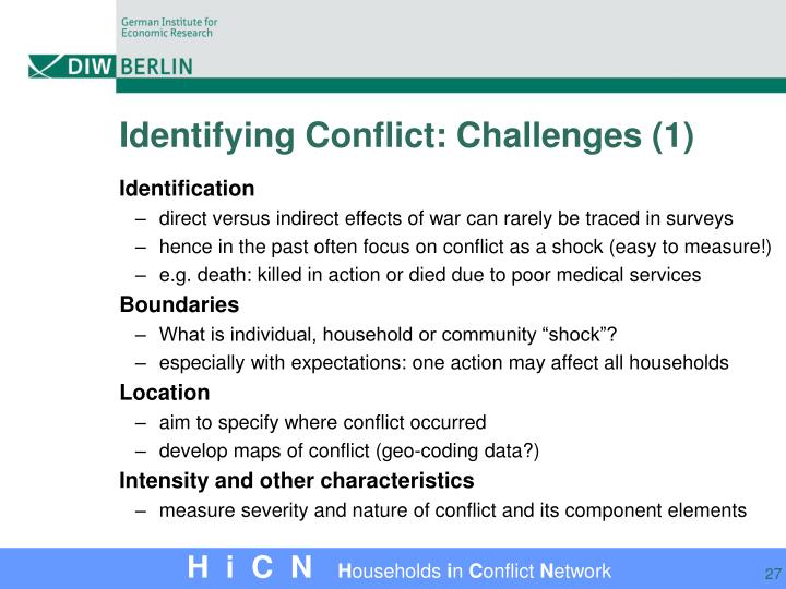 Identifying Conflict: Challenges (1)