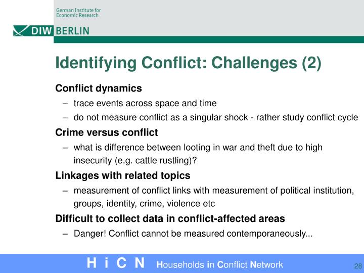 Identifying Conflict: Challenges (2)