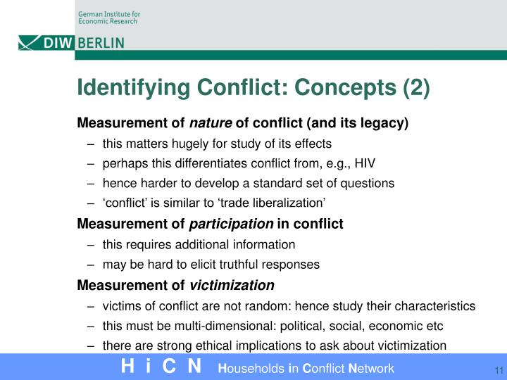 Identifying Conflict: Concepts (2)