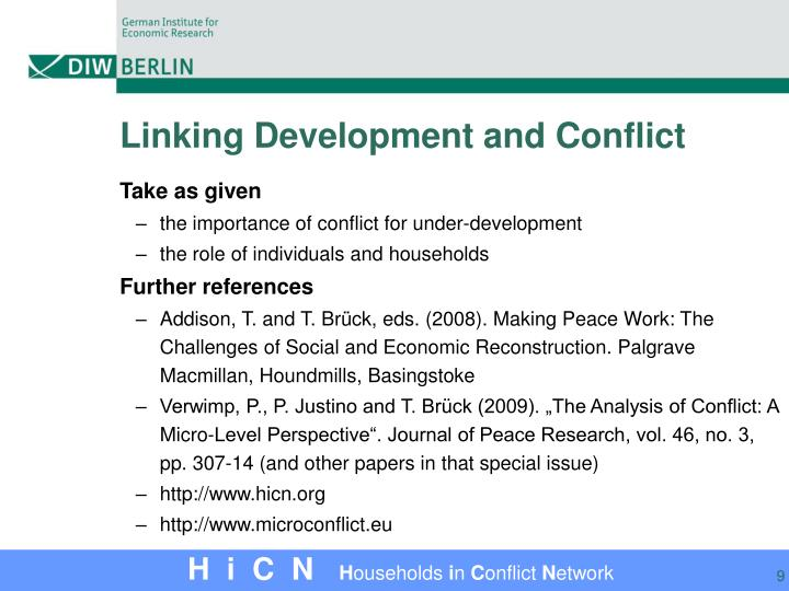 Linking Development and Conflict