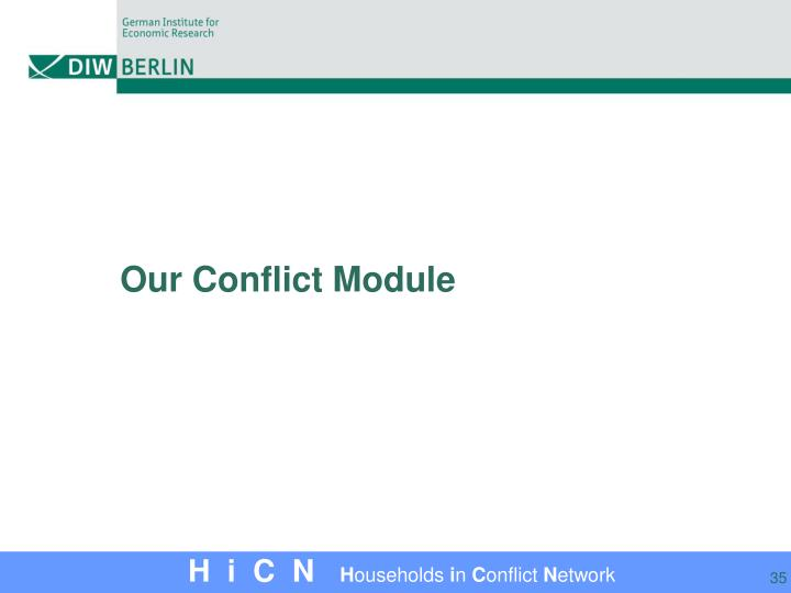 Our Conflict Module