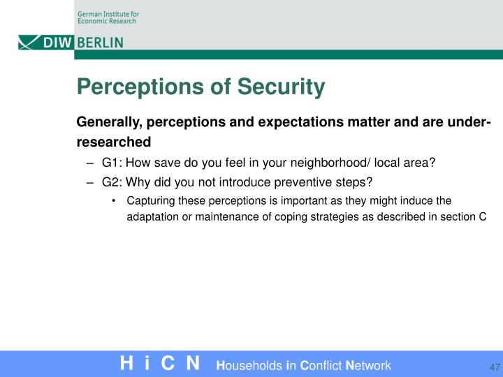 Perceptions of Security