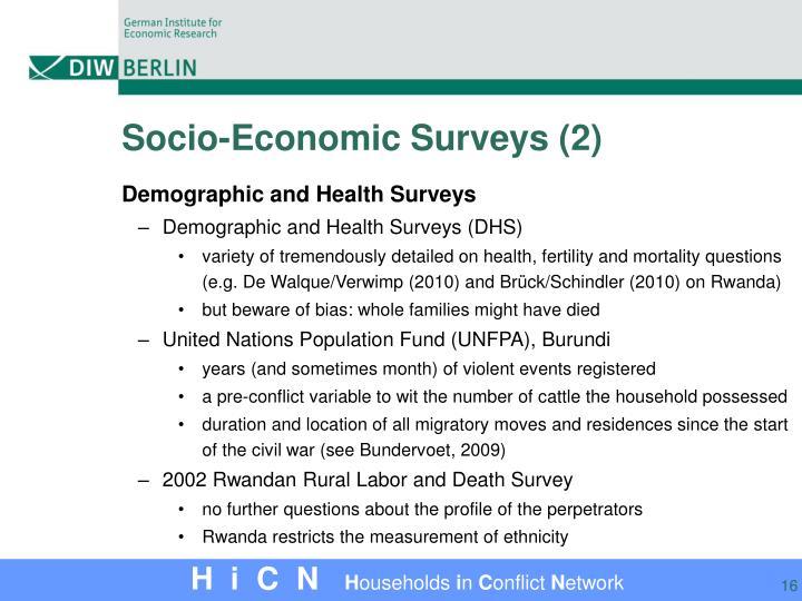 Socio-Economic Surveys (2)