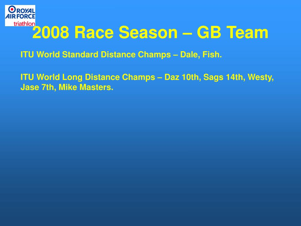 2008 Race Season – GB Team