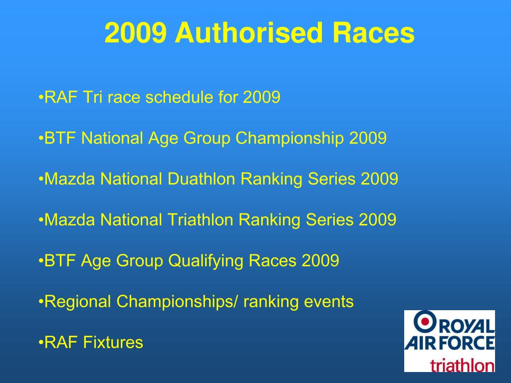 2009 Authorised Races