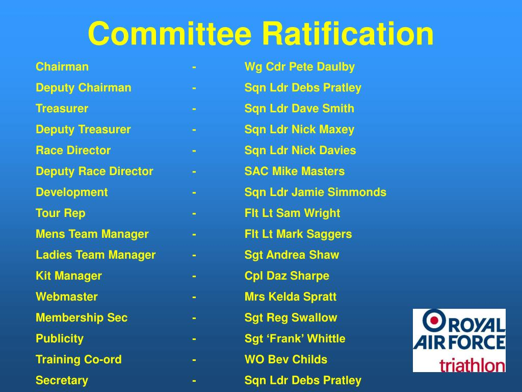 Committee Ratification