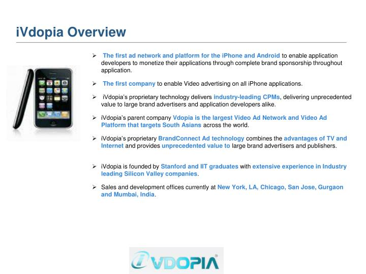 iVdopia Overview