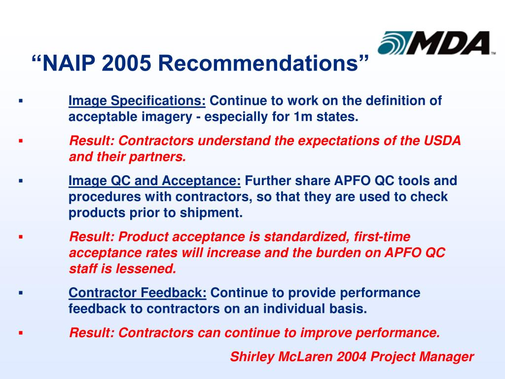 """NAIP 2005 Recommendations"""