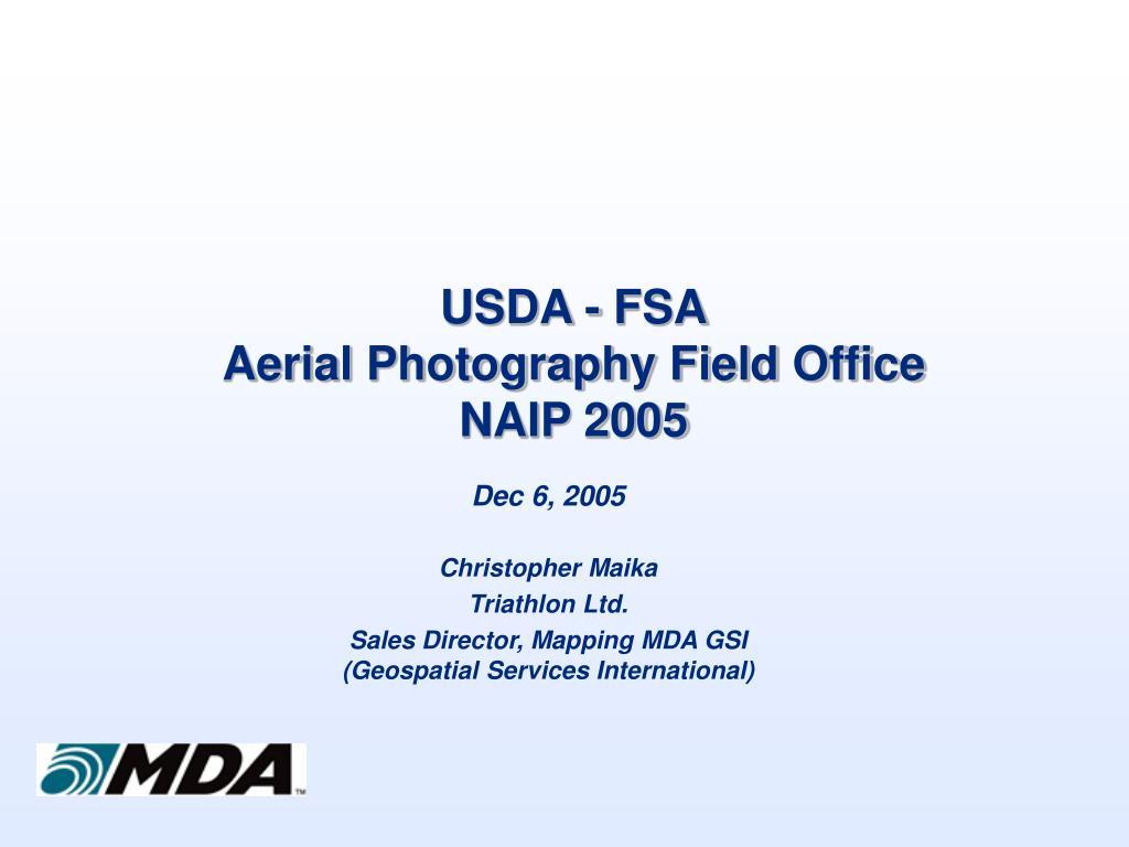 USDA - FSA