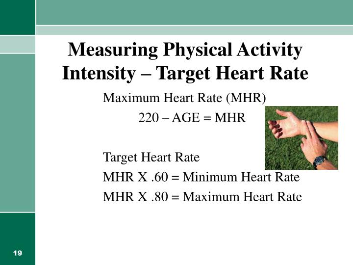 Measuring Physical Activity Intensity – Target Heart Rate