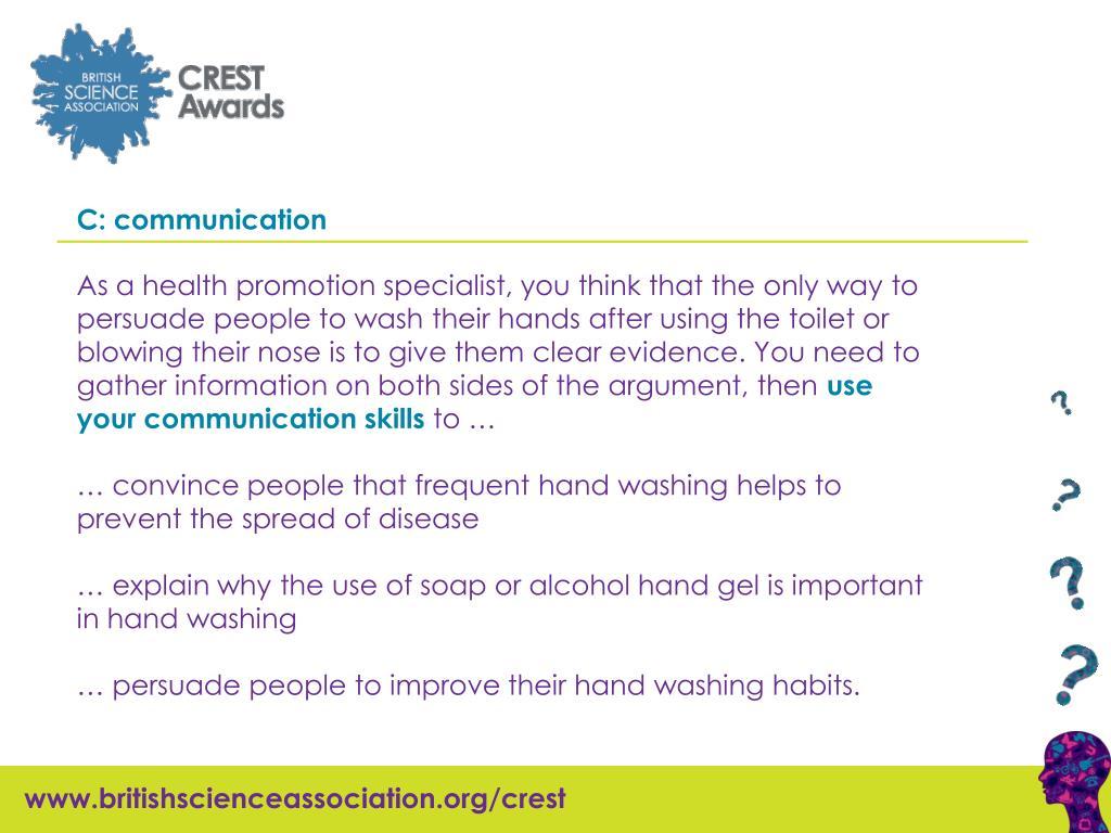 C: communication