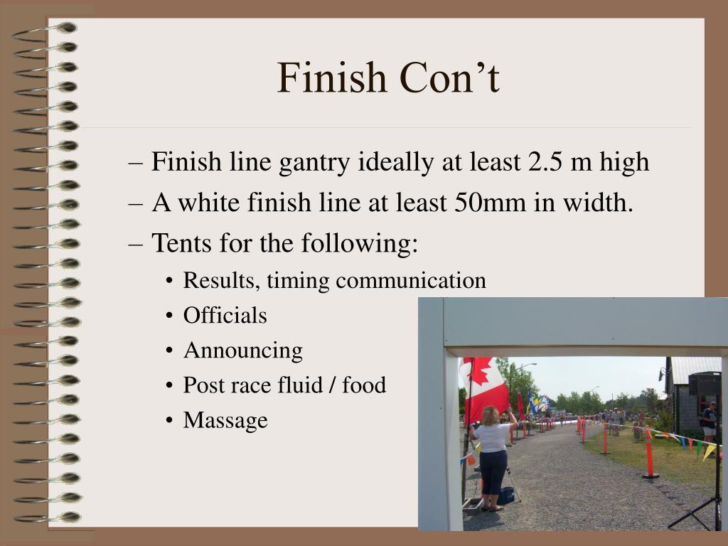 Finish Con't