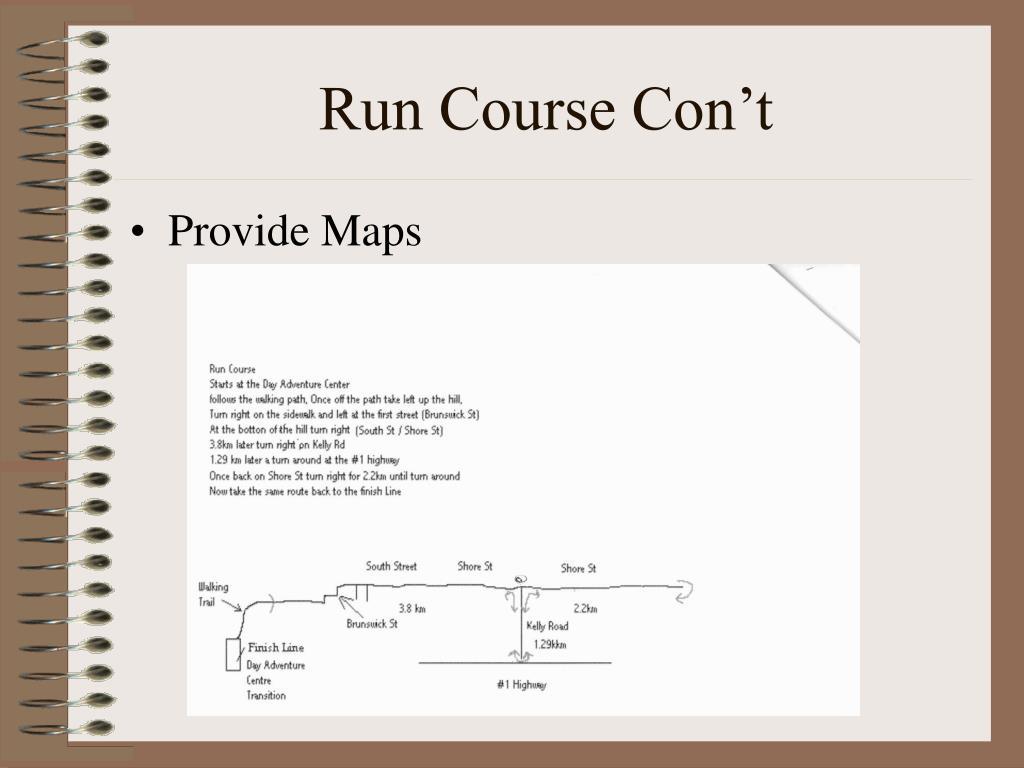 Run Course Con't