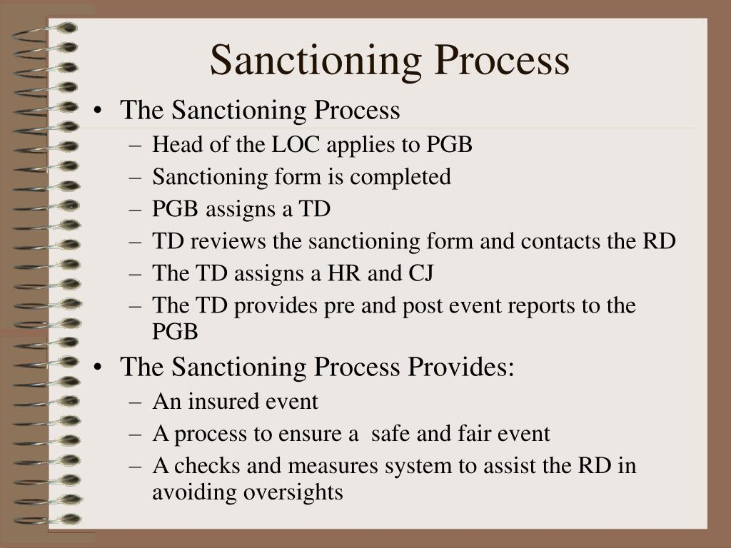 Sanctioning Process