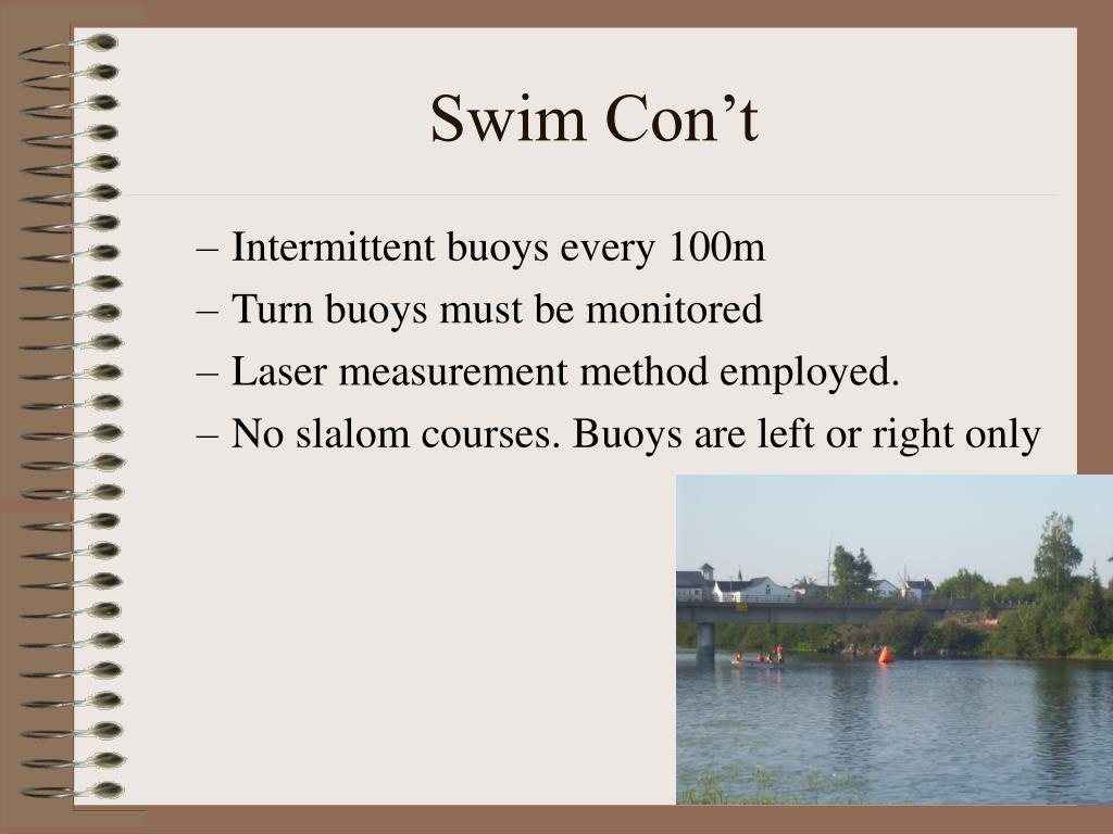 Swim Con't