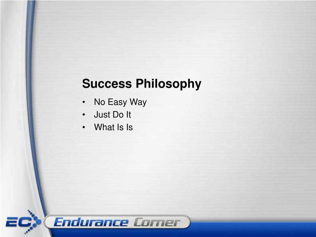 Success Philosophy