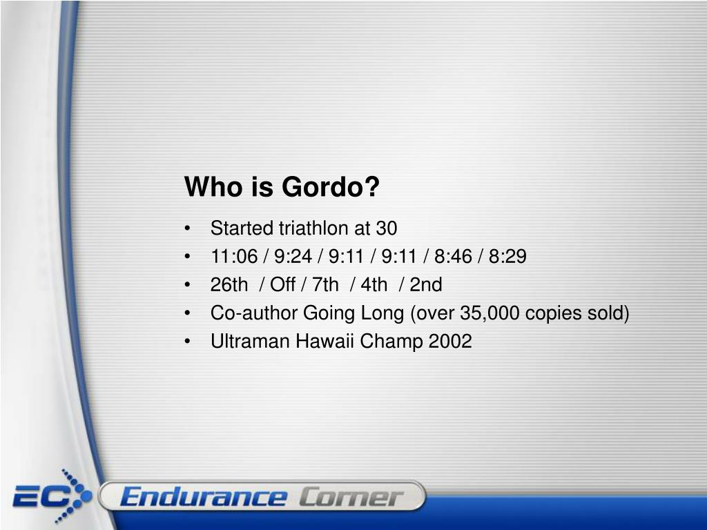 Who is Gordo?