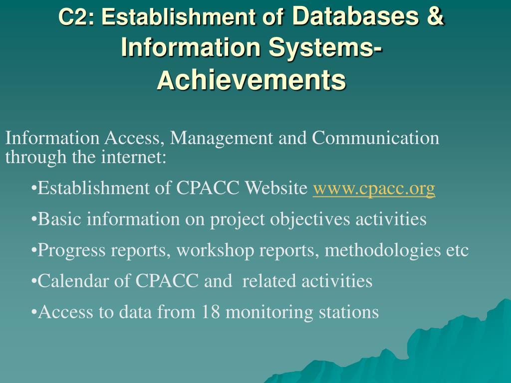 C2: Establishment of