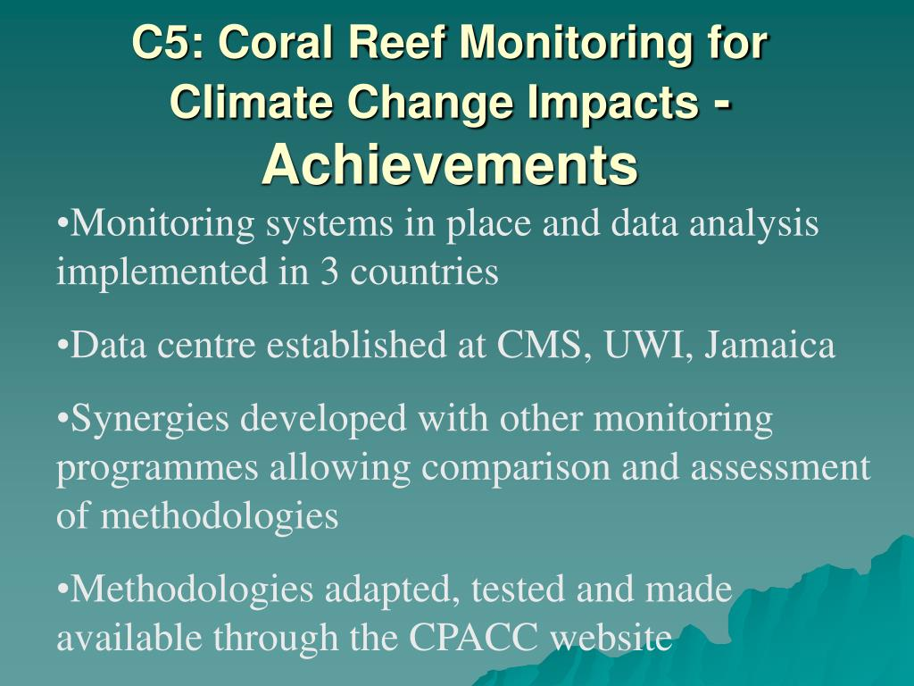 C5: Coral Reef Monitoring for Climate Change Impacts