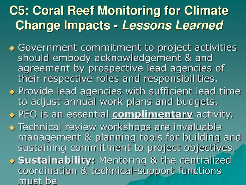 C5: Coral Reef Monitoring for Climate Change Impacts -