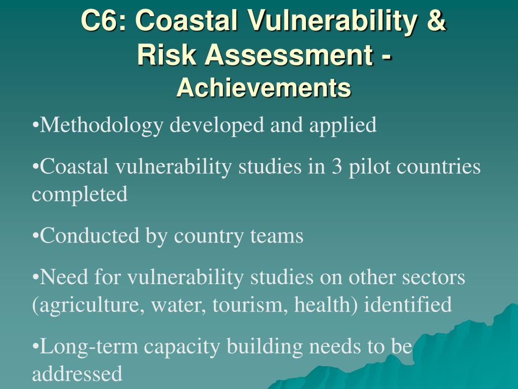 C6: Coastal Vulnerability & Risk Assessment -