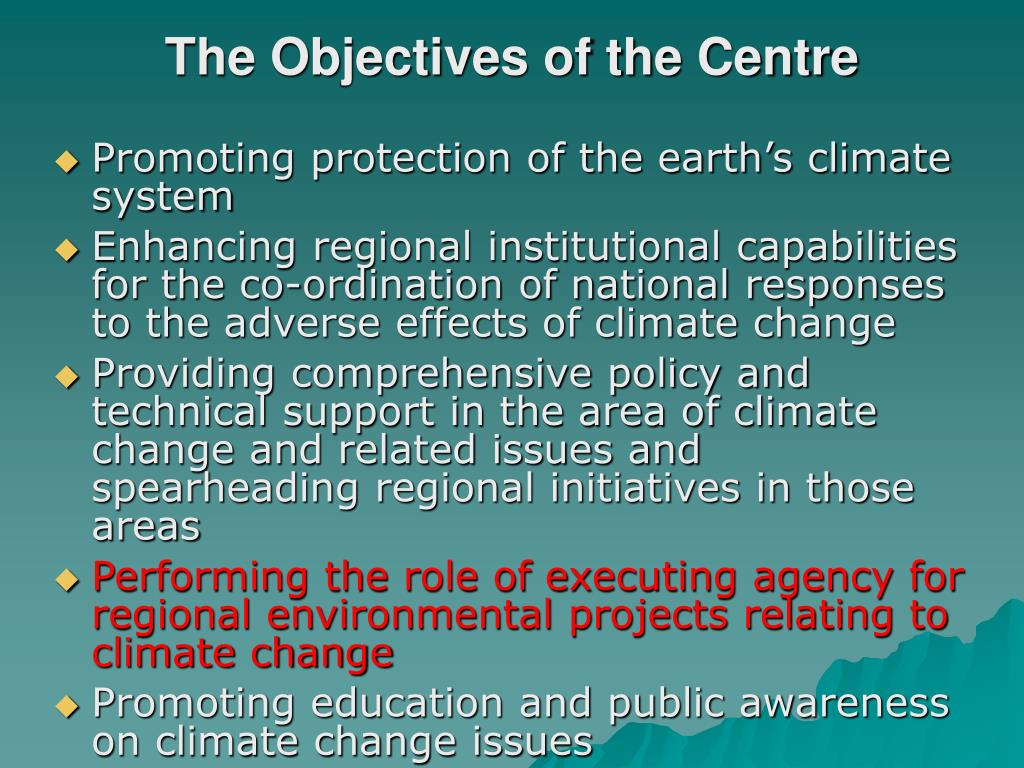 The Objectives of the Centre