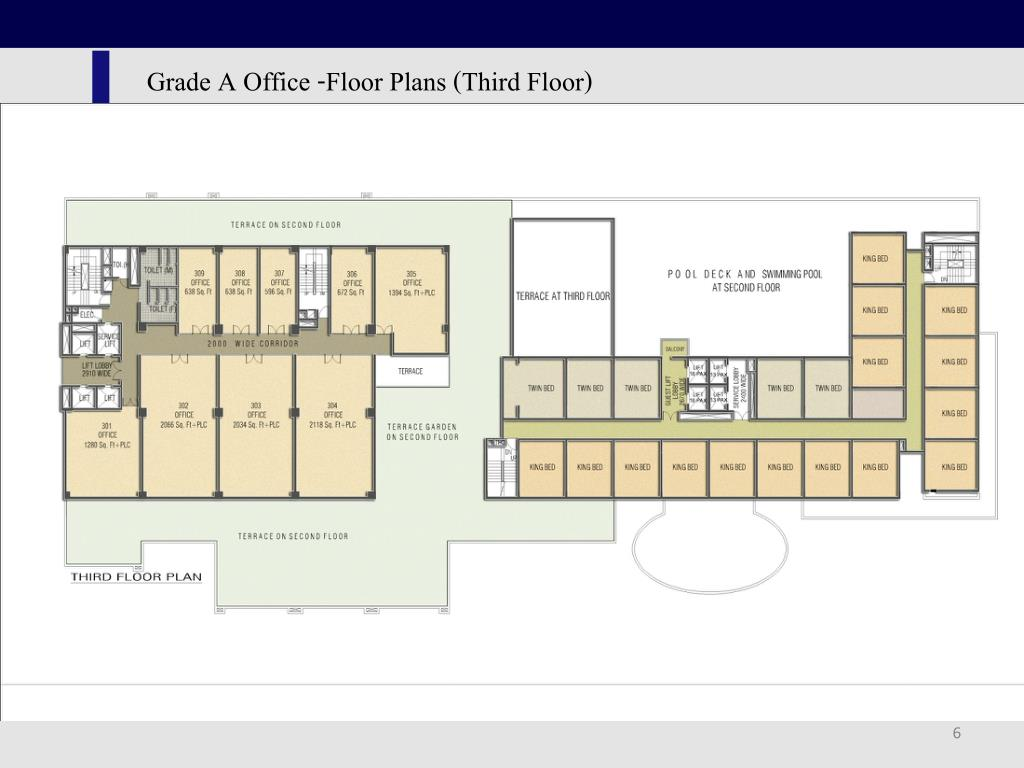 Grade A Office -Floor Plans (Third Floor)