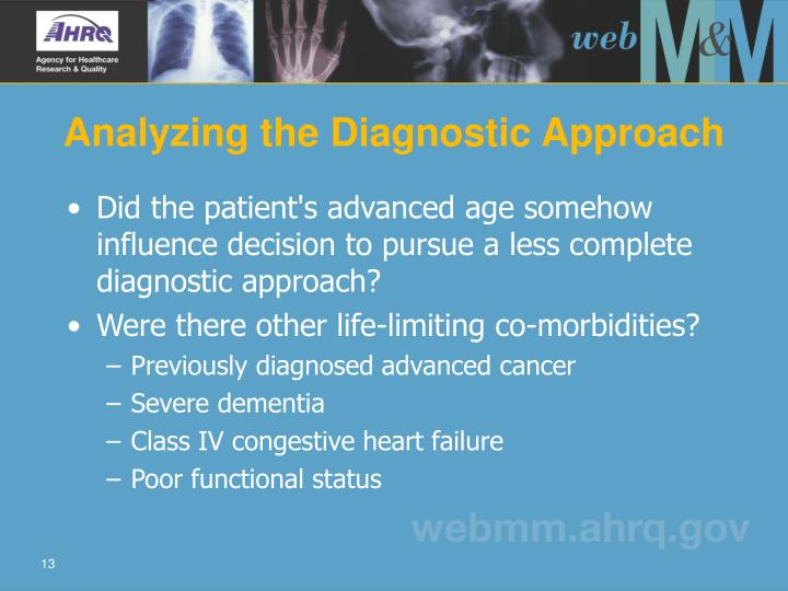 Analyzing the Diagnostic Approach