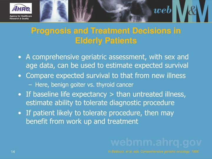 Prognosis and Treatment Decisions in Elderly Patients