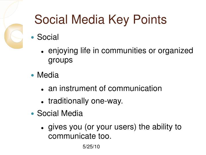 Social Media Key Points