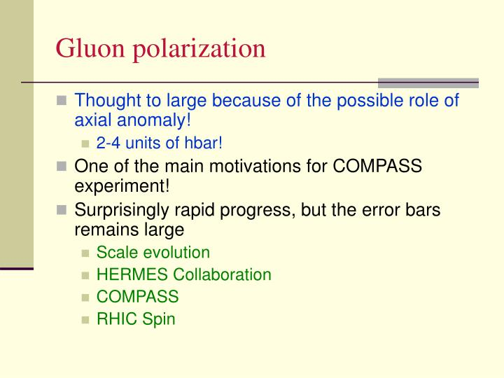 Gluon polarization