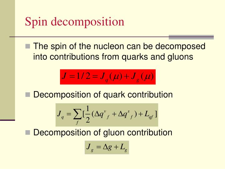 Spin decomposition